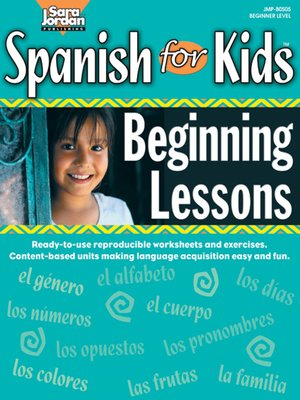cover image of Spanish for Kids: Beginning Lessons