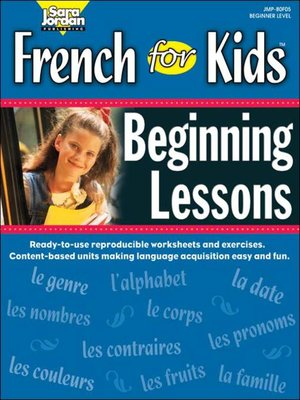 cover image of French for Kids: Beginning Lessons