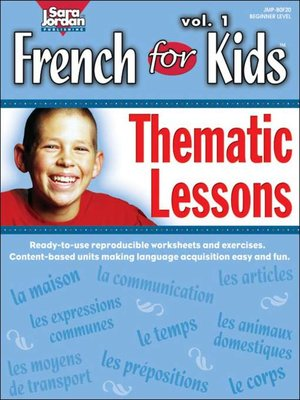 cover image of French for Kids: Thematic Lessons