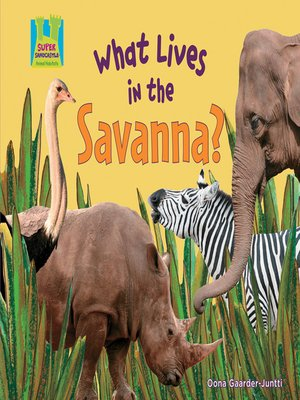 cover image of What Lives in the Savanna?