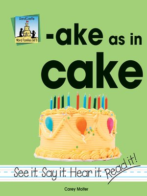 cover image of ake as in cake