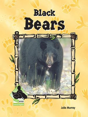 cover image of Black Bears