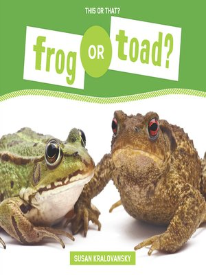 cover image of Frog or Toad?