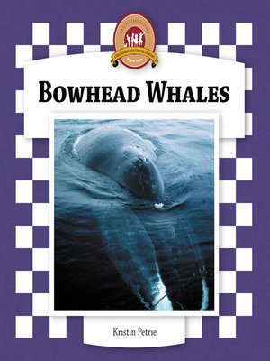 cover image of Bowhead Whales