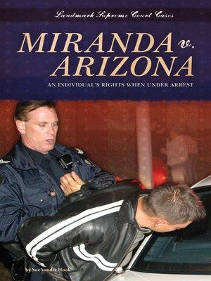 cover image of Miranda v. Arizona