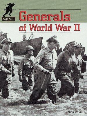 cover image of Generals of World War II