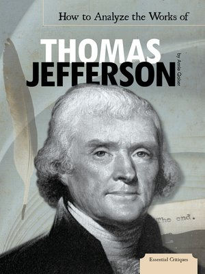 cover image of How to Analyze the Works of Thomas Jefferson