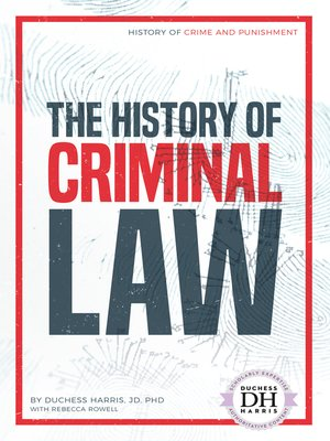 cover image of The History of Criminal Law