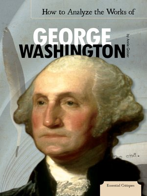 cover image of How to Analyze the Works of George Washington