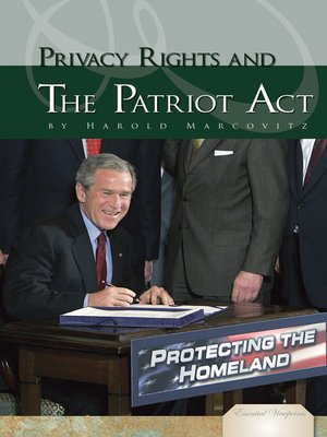 cover image of Privacy Rights and the Patriot Act