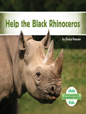 cover image of Help the Black Rhinoceros