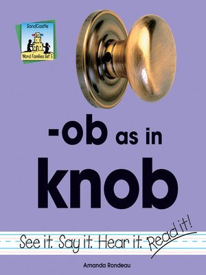 cover image of ob as in knob