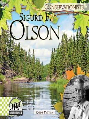 cover image of Sigurd F. Olson