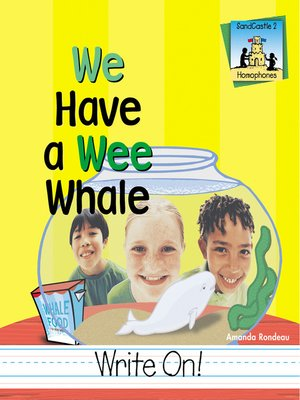 cover image of We Have a Wee Whale