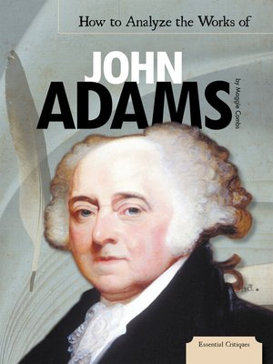 cover image of How to Analyze the Works of John Adams