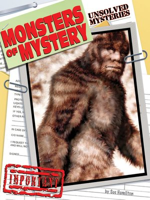 cover image of Monsters of Mystery
