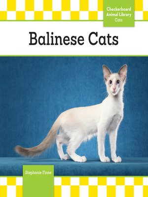 cover image of Balinese Cats