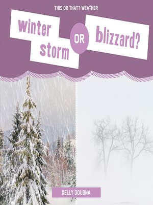 cover image of Winter Storm or Blizzard?