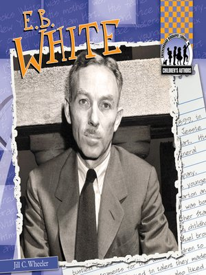 cover image of E. B. White