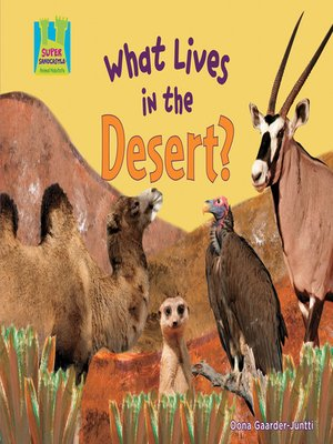 cover image of What Lives in the Desert?