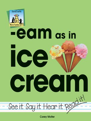 cover image of eam as in ice cream