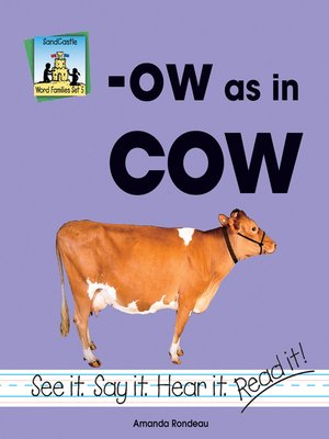 cover image of ow as in cow