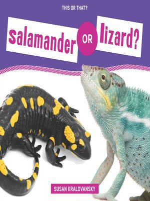 cover image of Salamander or Lizard?