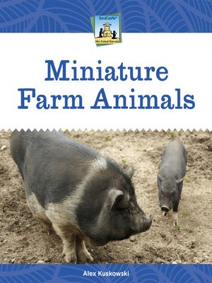 cover image of Miniature Farm Animals