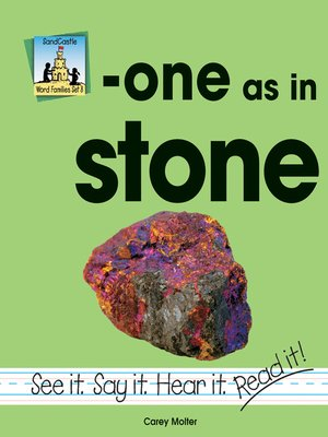cover image of one as in stone