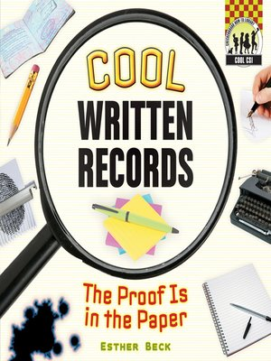 cover image of Cool Written Records
