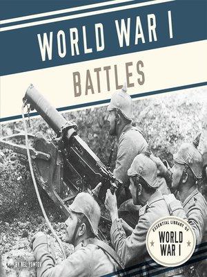 cover image of World War I Battles