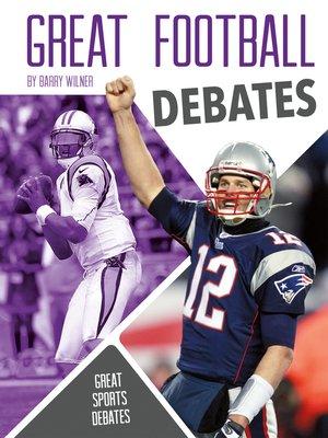 cover image of Great Football Debates
