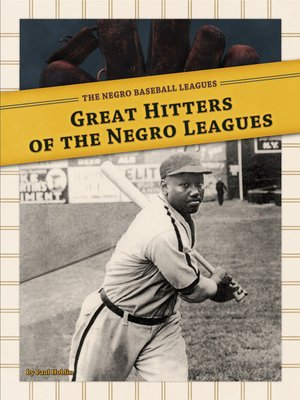 cover image of Great Hitters of the Negro Leagues