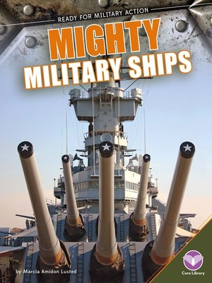 cover image of Mighty Military Ships