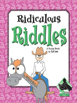 cover image of Ridiculous Riddles
