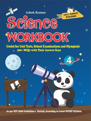 cover image of Science Workbook Class 4