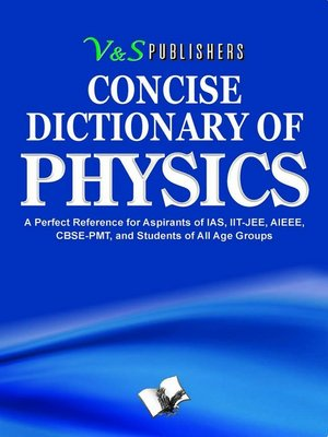 cover image of Concise Dictionary of Physics
