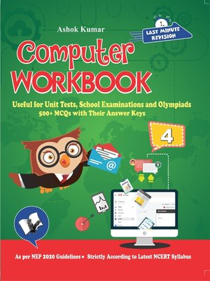 cover image of Computer Workbook Class 4