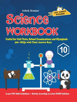 cover image of Science Workbook Class 10
