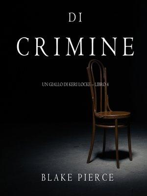 cover image of Tracce di Crimine