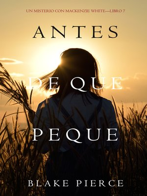 cover image of Antes De Que Peque