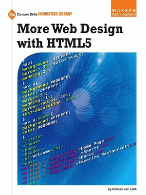 cover image of More Web Design with HTML5
