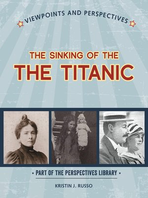 cover image of Viewpoints on the Sinking of the Titanic