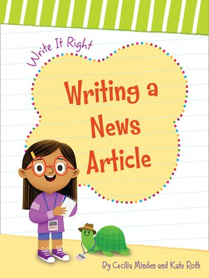 cover image of Writing a News Article