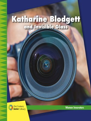 cover image of Katharine Blodgett and Invisible Glass