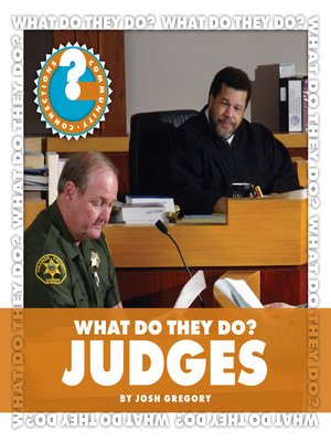 cover image of What Do They Do? Judges