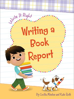 cover image of Writing a Book Report