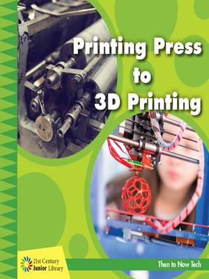cover image of Printing Press to 3D Printing