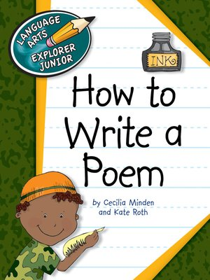 cover image of How to Write a Poem