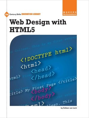 cover image of Web Design with HTML5